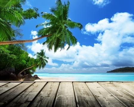 tropicale: plage des Seychelles