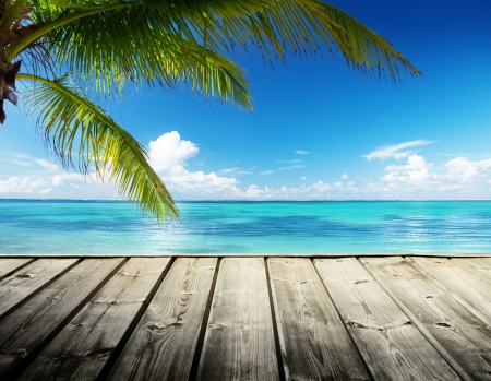 카리브 바다와 완벽한 하늘