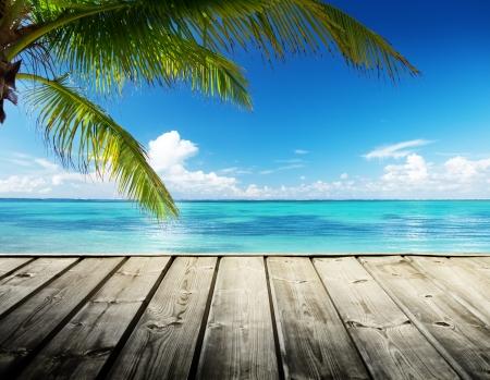 Caraibi mare e cielo perfetto Archivio Fotografico - 21490687