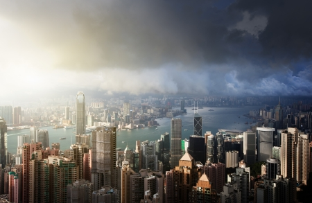 Hong Kong island from Victoria's Peak Stock Photo - 21490695