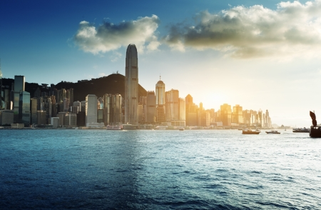 Skyline of Hong Kong  Stockfoto