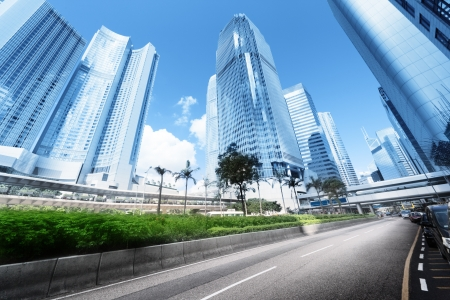 view on Hong Kong street