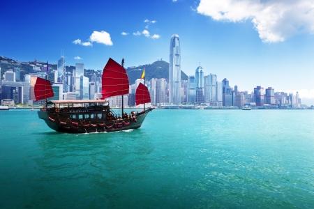 Hong Kong harbour Archivio Fotografico