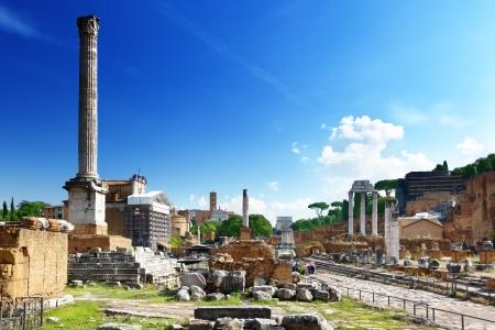Forum romain à Rome, Italie Banque d'images - 22701416