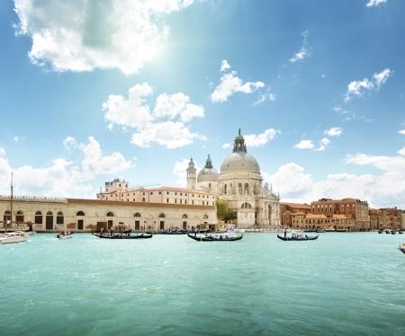 Grand Canal and Basilica Santa Maria della Salute, Venice, Italy  Stock Photo - 22701563