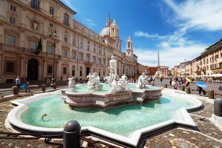 the romans: Piazza Navona, Rome. Italy