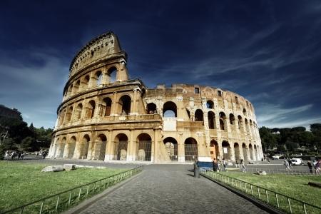 イタリア、ローマのコロシアム 写真素材