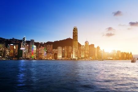 Skyline of Hong Kong  版權商用圖片