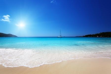 Anse Lazio beach at Praslin island, Seychelles Stock Photo - 23486993