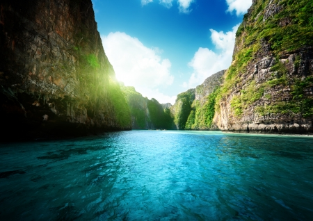 phi phi island: bay at Phi phi island in Thailand