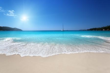 seychelles: Anse Lazio beach at Praslin island, Seychelles