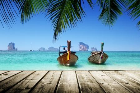 andaman: beach,  boats, Andaman Sea, Thailand