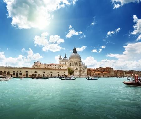 Grand Canal and Basilica Santa Maria della Salute, Venice, Italy  photo