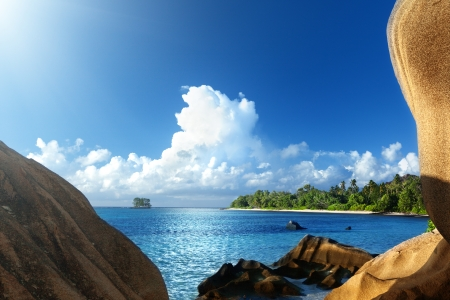 Anse Source d'Argent beach, La Digue island, Seyshelles Stock Photo - 25388345