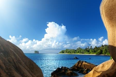 Anse Source d'Argent beach, La Digue island, Seyshelles Stock Photo - 25388345