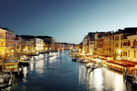 Grand Canal in Venice, Italy at sunset photo
