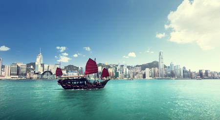 Hong Kong harbour 版權商用圖片