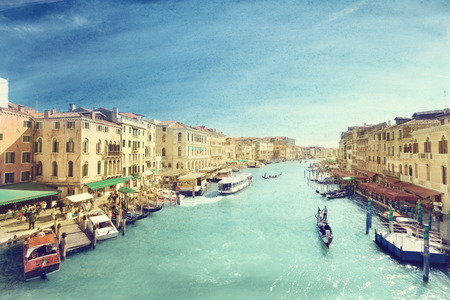 Venice canal vintage style photo