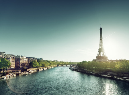 water tower: Eiffel tower in sunrise time