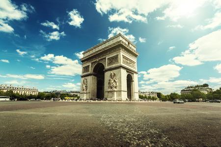 triumphe: Arc de Triumph, Paris  Stock Photo