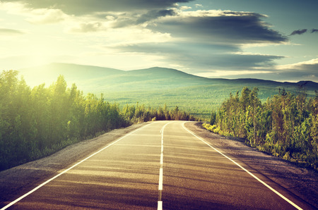 roadway: road in Russian mountains