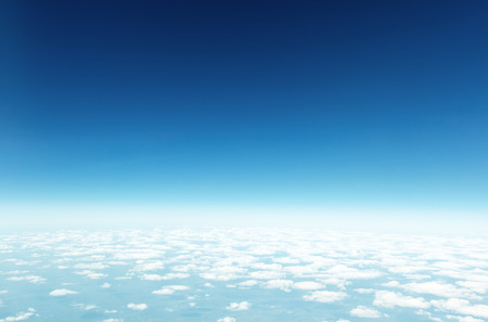 blue sky and perfect clouds Stock Photo