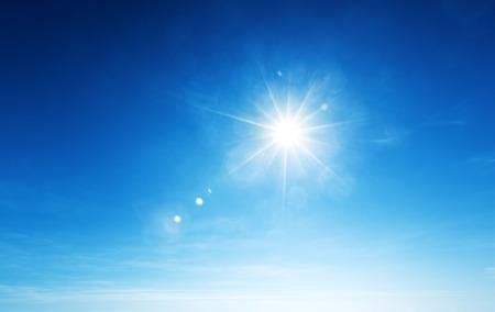 Cielo blu e sole Archivio Fotografico - 30941256