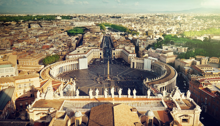 basilica of saint peter: Vatican square of saint Peter Stock Photo