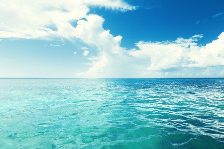 Caribbean sea and perfect sky  photo