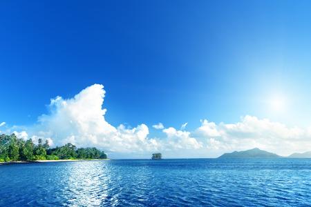 ladigue: beach on La Digue island, Seychelles
