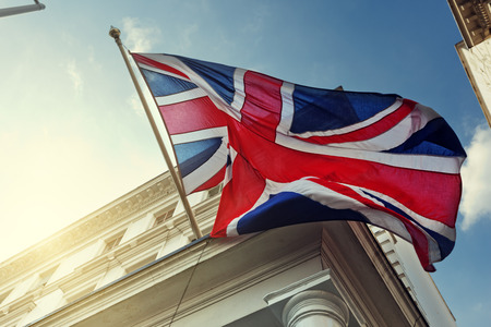 flag of UK on government building photo