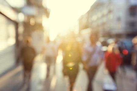 боке: люди в боке, улицы Лондона Фото со стока