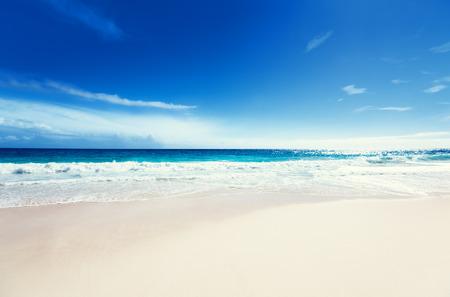 white sand: seychelles beach Stock Photo