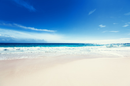 seychelles beach Archivio Fotografico