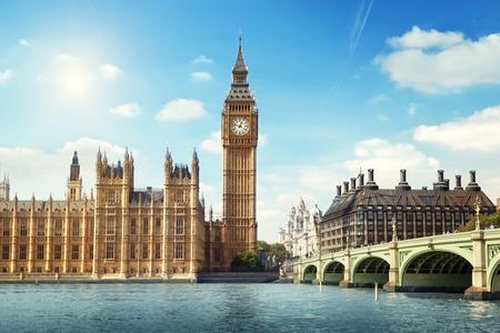 dia soleado: Big Ben en un d�a soleado, Londres