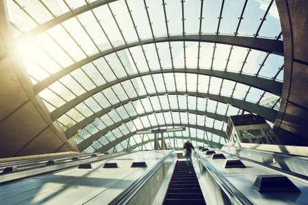 Canary Wharf stazione della metropolitana, Londra, Inghilterra, Regno Unito Archivio Fotografico