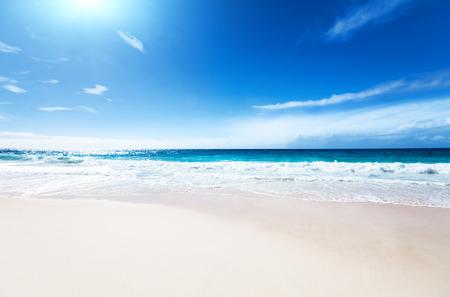 Seychellen Strand Standard-Bild