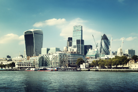 London city skyline from the River Thames