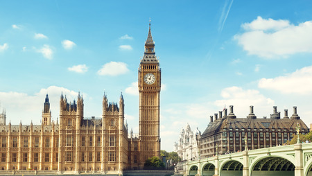 city of westminster: Big Ben in sunny day, London
