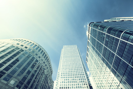 Modern buildings in London, Canary Wharf photo