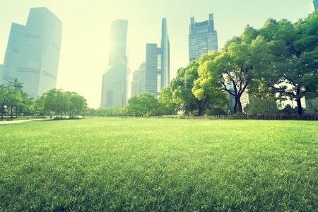 park in  lujiazui financial centre, Shanghai, China Standard-Bild