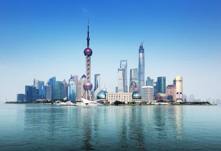 Shanghai skyline, China Фото со стока