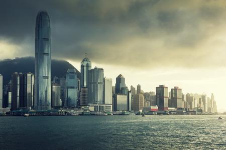 Hong Kong のスカイライン 写真素材