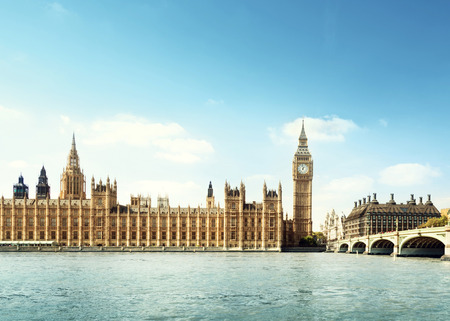 tower house: Big Ben in sunny day, London