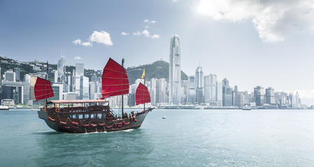 Hong Kong harbour Stock Photo