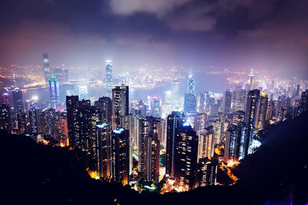 Hong Kong eiland van Victoria's Peak Stockfoto
