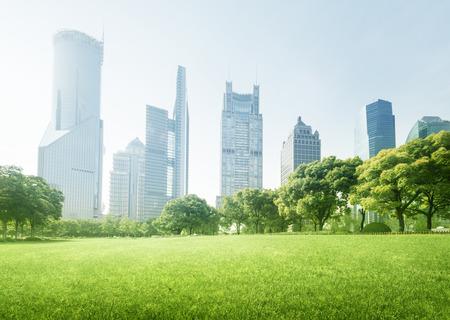 lujiazui 금융 센터 공원, 상하이, 중국 스톡 콘텐츠