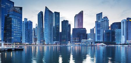comercial: Paisaje urbano de Singapur Foto de archivo
