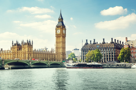 city of london: Big Ben in sunny day, London