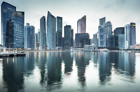 городской пейзаж: Городской Сингапур Фото со стока